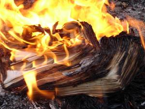 Сжигание - один из способов уничтожения бухгалтерских бумаг
