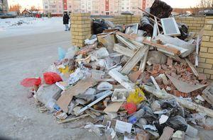 Объемный вес мусора строительного для смет